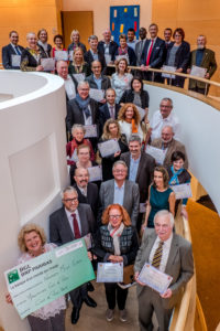 "The cheque for the seventh annual ""Coup de Pouce"" (A Little Boost) programme was presented in a ceremony at BGL BNP Paribas' headquarters"
