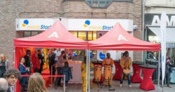 African band playing in front of microStart branch_606x405