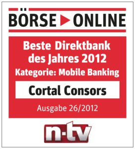 cortal consors ist beste direktbank im mobile banking. Black Bedroom Furniture Sets. Home Design Ideas