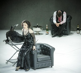 A performance of La Traviata at the Monnaie opera house in Brussels