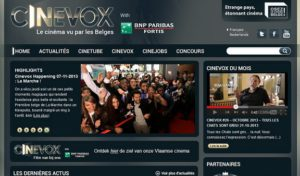 Cinevox social media platform, French screenshot