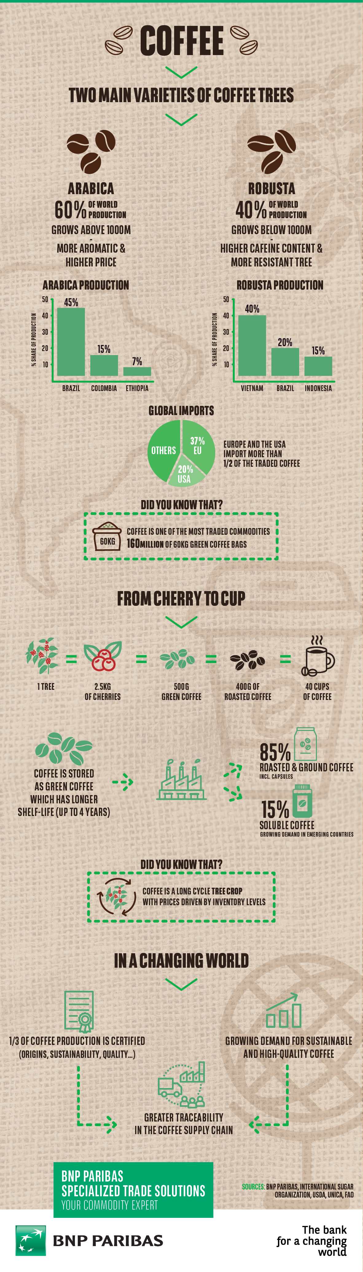 infographics on coffee
